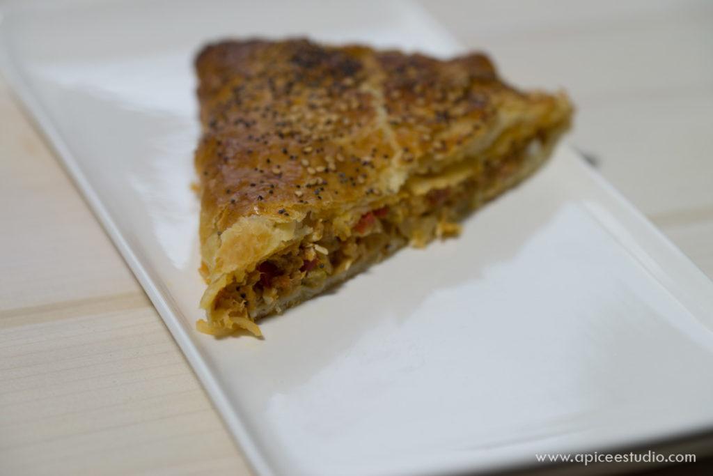 Empanada de hojaldre casera