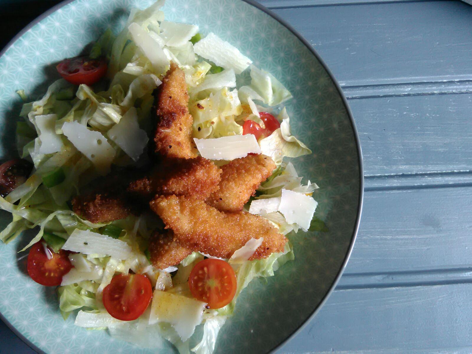 Ensalada de pollo crujiente al curry 1