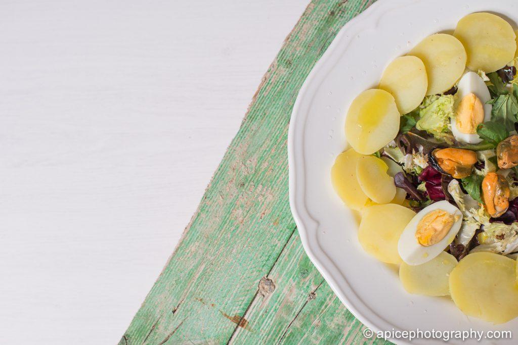 Ensalada de patata y huevo cocido 1