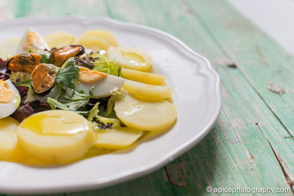 Ensalada de patata y huevo cocido 4