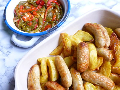 Patatas al curry con salchichas de carnicería 3