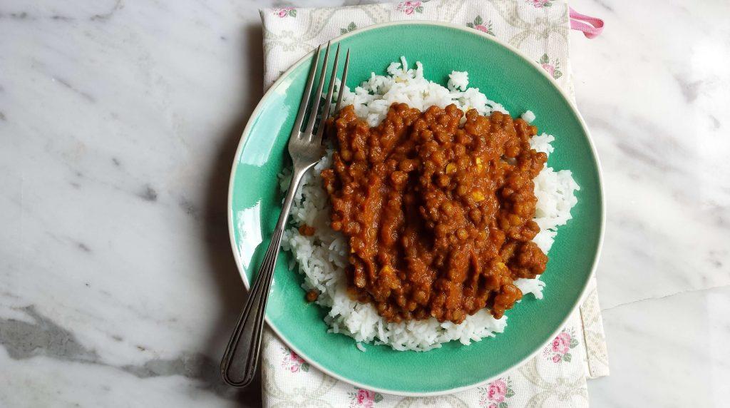Presentación de lentejas al curry 2