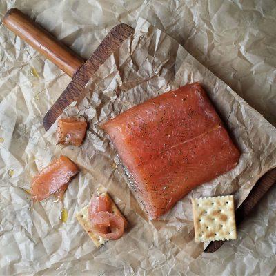 Salmón marinado en casa