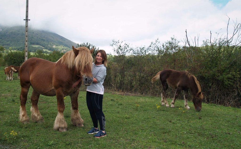 Ainhoa y sus caballos ecológicos