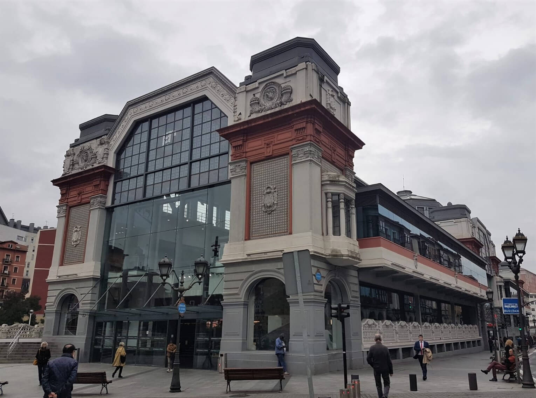 Fachada del Mercado de La Ribera de Bilbao