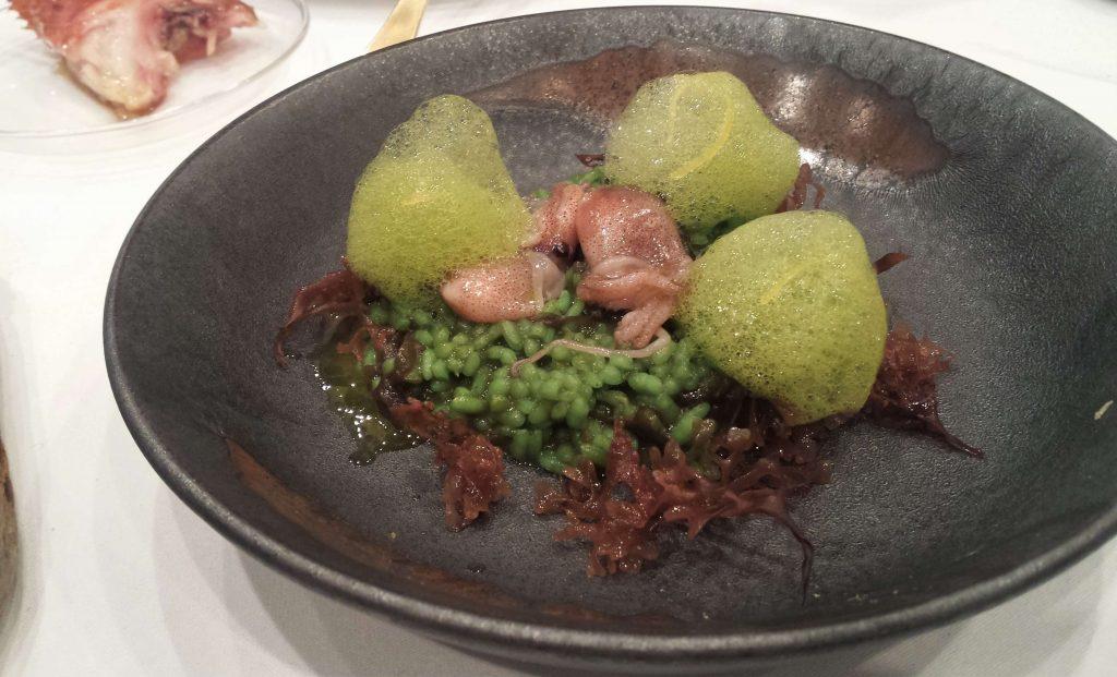 Plato de arroz de algas de El Poblet
