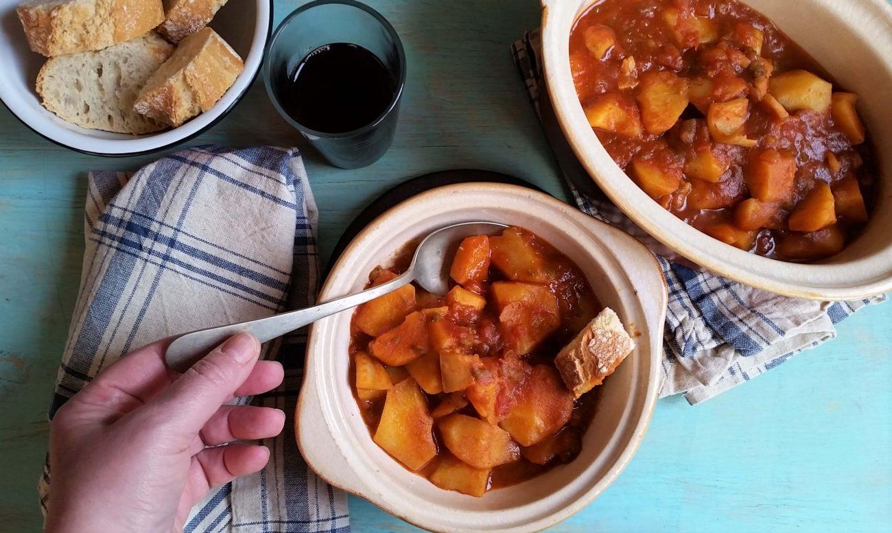 Receta fácil de marmitako de txipirón