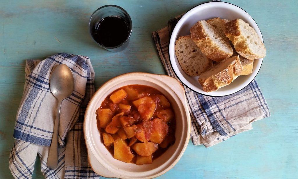 Plato de marmitako de txipirón