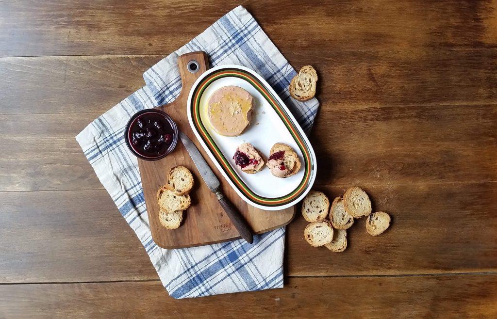 Micuit con salsa de arándanos