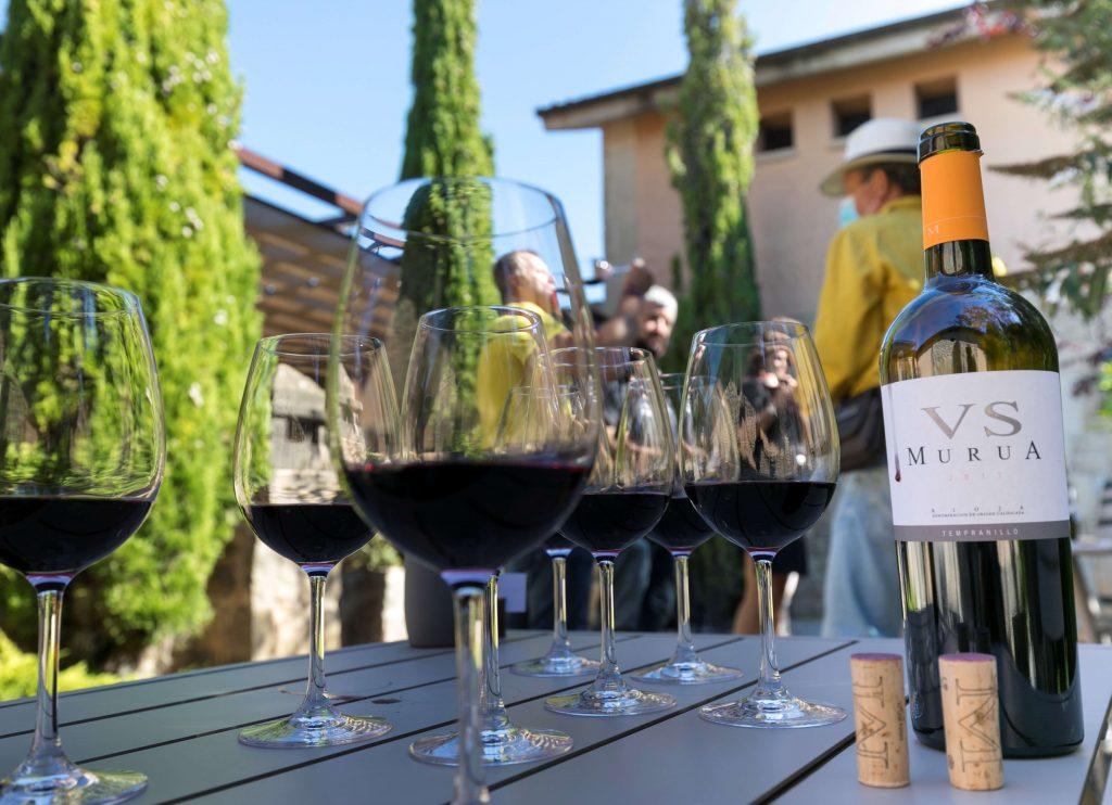 Copas de vino en Bodegas Murua