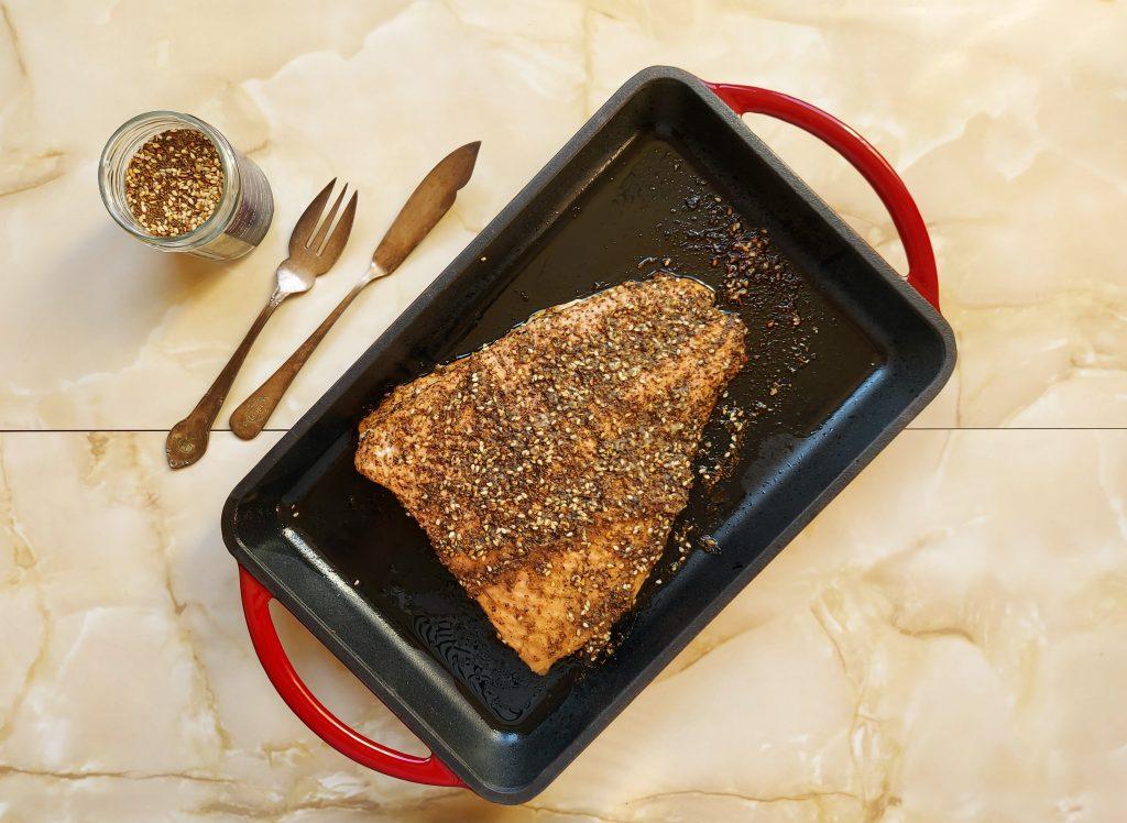 lomos de salmón con especias zatar