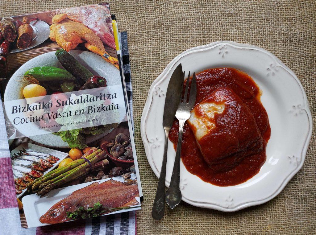 Bacalao con salsa vizcaína. Receta tradicional vasca
